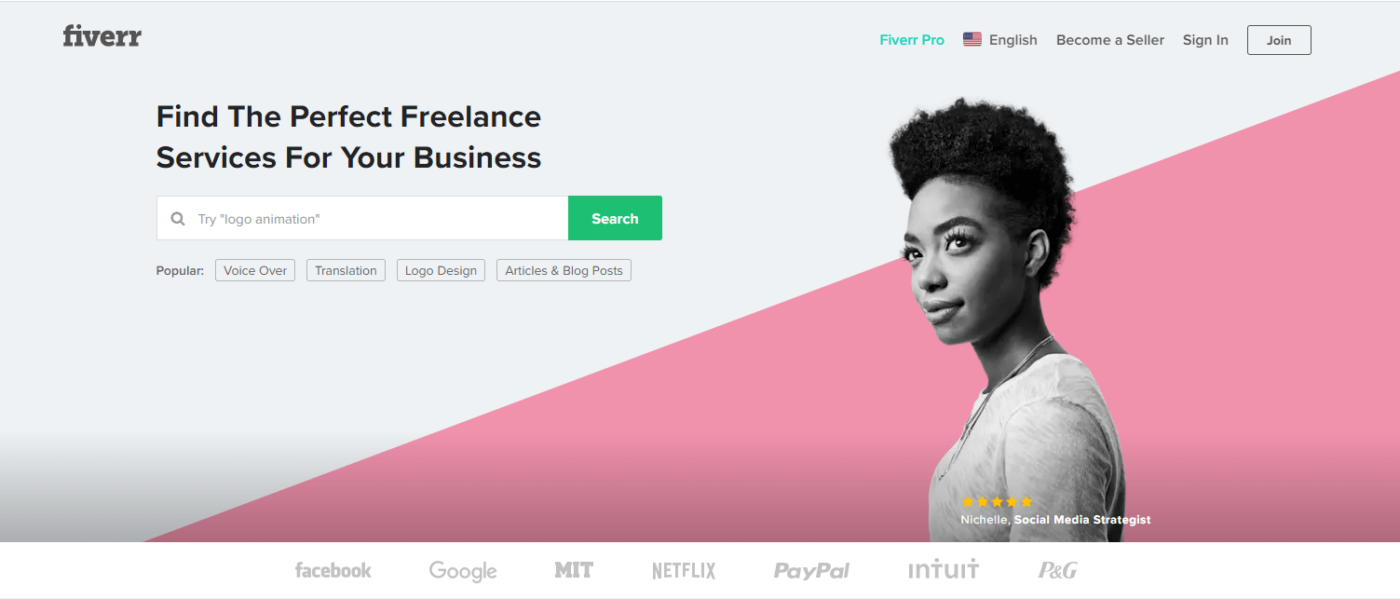 Best Freelance Website Fiverr
